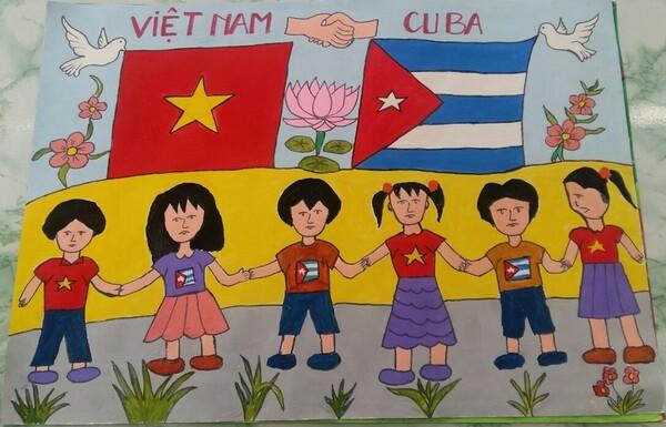 vẽ tranh Việt Nam Cuba